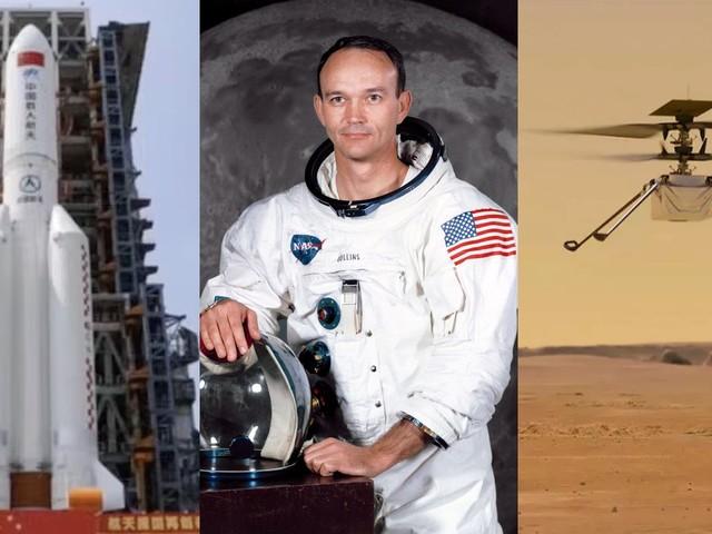 O céu (não) é o limite | Pedaço de foguete cairá na Terra, morre Michael Collins