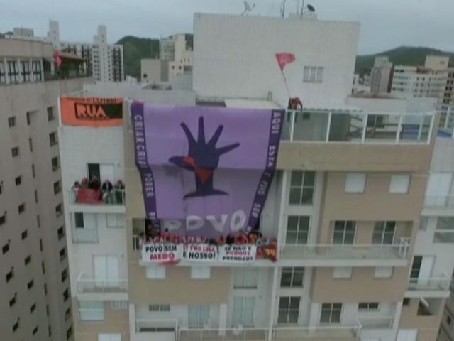 PF usa imagens para identificar invasores de triplex atribuído a Lula em Guarujá