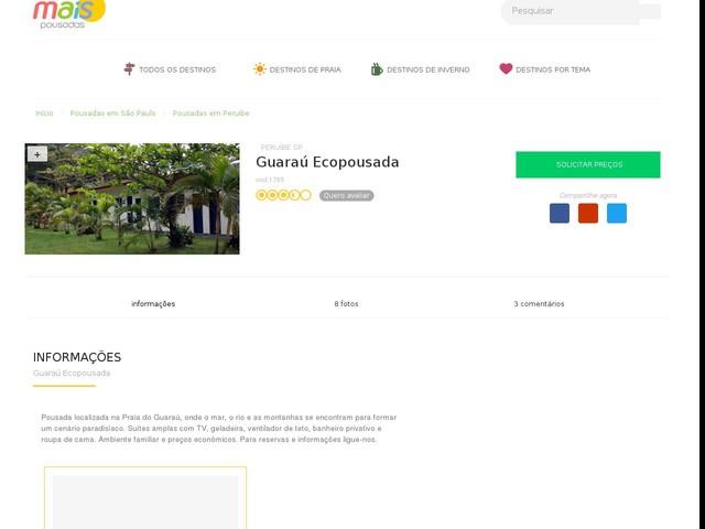 Guaraú Ecopousada - Peruibe - SP