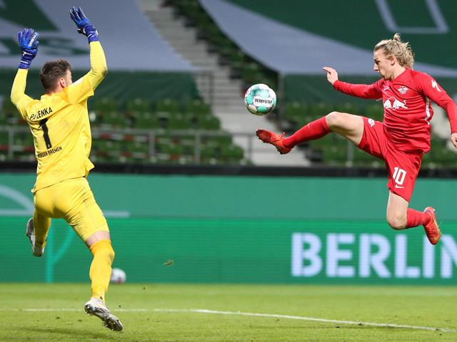 Herói da classificação vibra com RB Leipzig na final da Copa da Alemanha