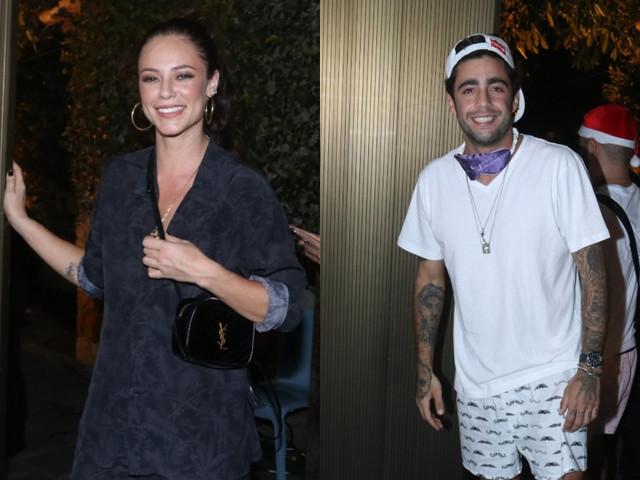 Paolla Oliveira vai à festa acompanhada de ex-marido de Luana Piovani e levanta suspeitas