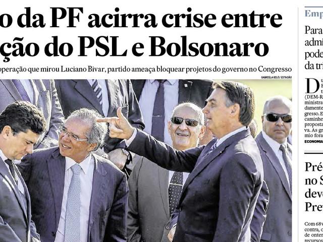 A foto da 'arminha' de Bolsonaro na cabeça de Moro