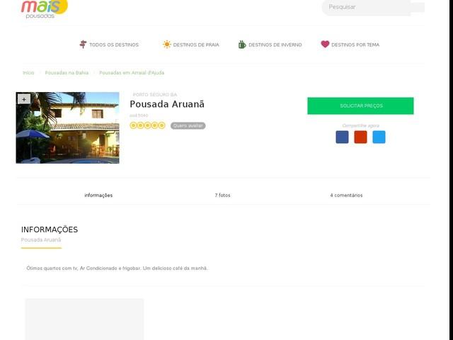 Pousada Aruanã - Arraial d'Ajuda - BA