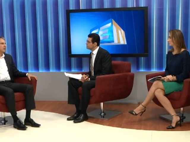 Camilo Santana, candidato ao governo do CE, é entrevistado no CETV 1ª Edição