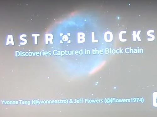 Blockchain en astronomía