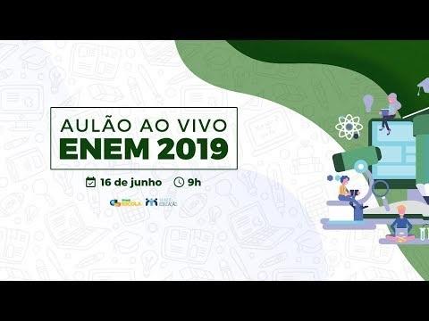 """AO VIVO: assista agora ao """"Aulão Enem 2019"""" do Brasil Escola"""