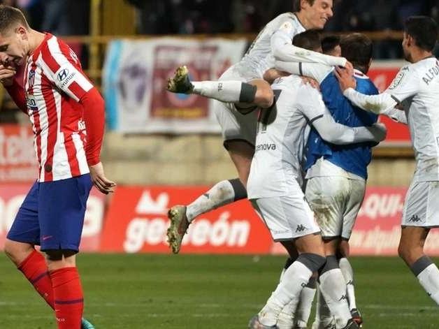 Cultural Leonesa, da 3ª divisão, derruba Atlético de Madrid da Copa do Rei