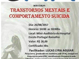 Mini Curso : Transtornos Mentais e Comportamento Suicida