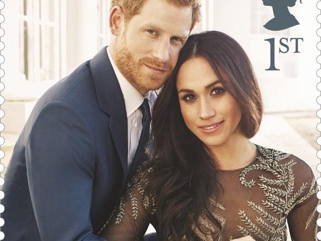 Correio britânico lança selos do casamento do príncipe Harry