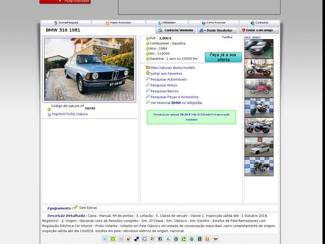 BMW - 316 , 1981 (1/17/2019 10:20:42 PM)