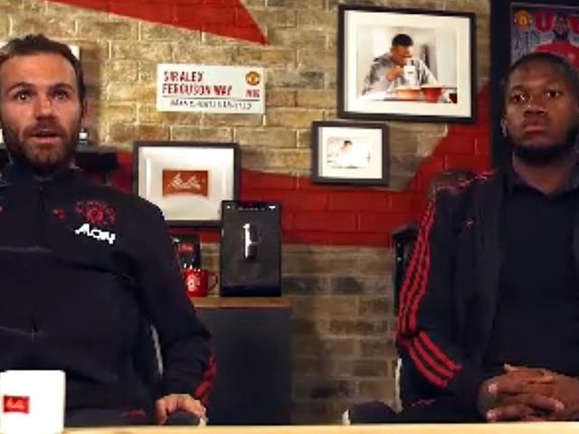 Um cafezinho com Pogba, Mata e Martial, jogadores do Manchester United
