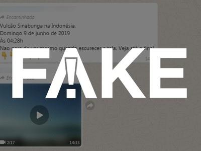 É #FAKE que vídeo mostra erupção de vulcão na Indonésia