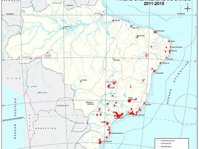 Áreas Urbanizadas do Brasil 2015