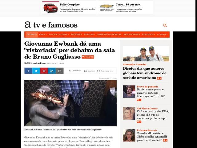 """Giovanna Ewbank dá uma """"vistoriada"""" por debaixo da saia de Bruno Gagliasso"""