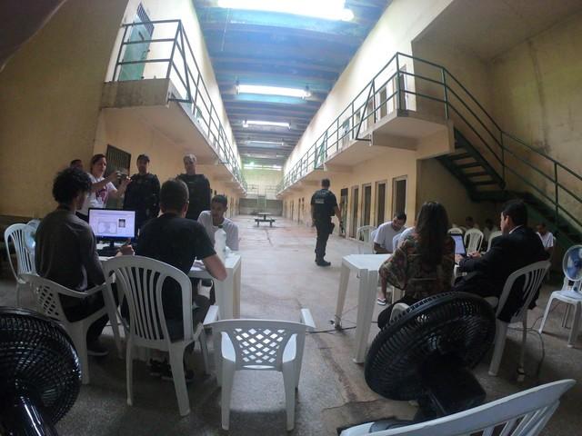 Mutirão de assistência jurídica a presos é realizado no Ipat, em Manaus
