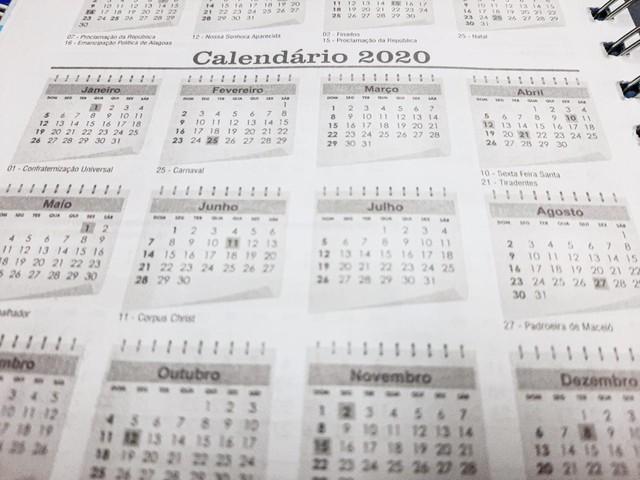 Feriados em 2020 em Alagoas