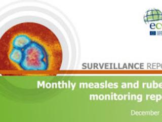 ECDC: Relatório mensal de monitoramento do sarampo e da rubéola, dezembro de 2017