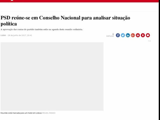 PSD reúne-se em Conselho Nacional para analisar situação política