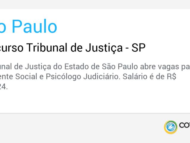 Concurso Tribunal de Justiça - SP
