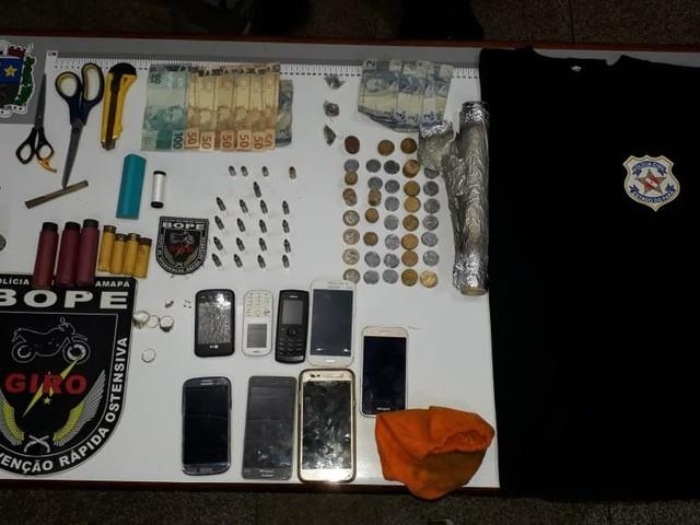 Idosa de 71 anos e o filho são presos com munições para fuzil e drogas em Macapá
