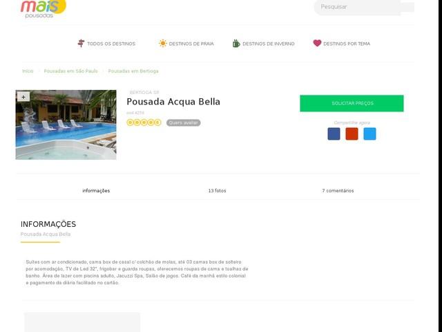 Pousada Acqua Bella - Bertioga - SP