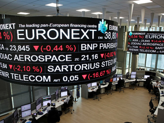 Lucros da Euronext caem 9% no primeiro trimestre, para 43,9 milhões