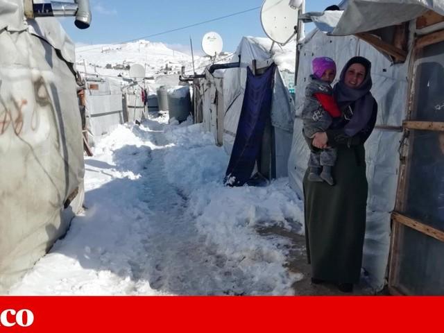 Frio coloca em risco sobrevivência de refugiados na Síria e no Líbano
