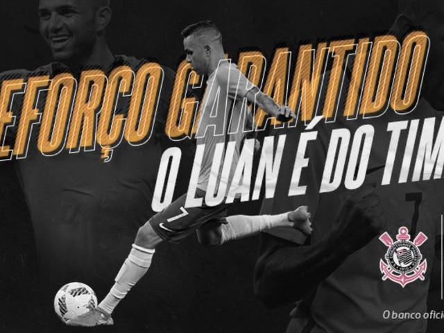 Em anúncio oficial, Corinthians indica possível numeração de Luan