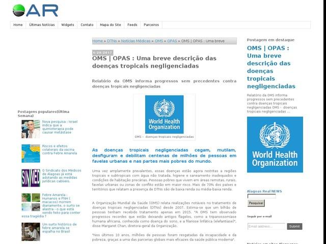 OMS | OPAS : Uma breve descrição das doenças tropicais negligenciadas