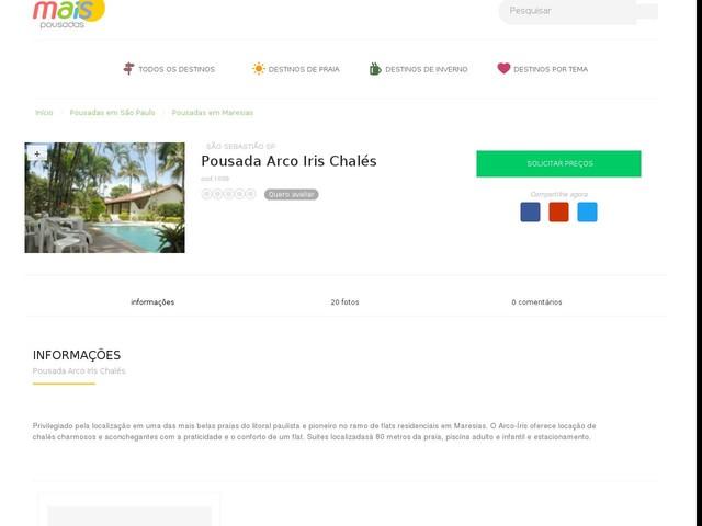 Pousada Arco Iris Chalés - Maresias - SP