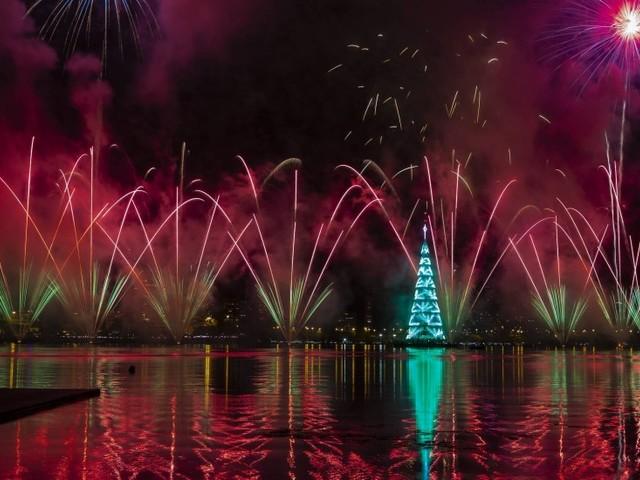 Árvore da Lagoa é inaugurada ao som de música instrumental, fogos e emoção do público