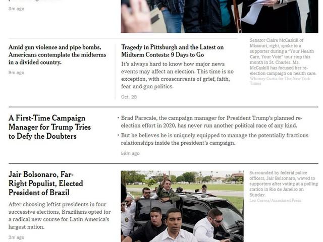 Imprensa internacional repercute a vitória de Bolsonaro na eleição presidencial