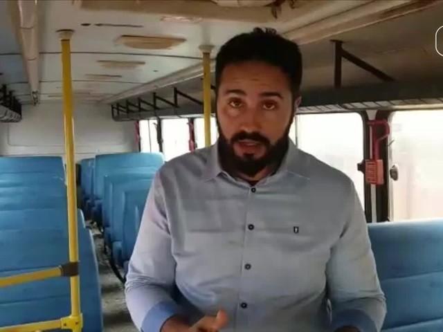 Micro-ônibus escolar sem placas, sem freios e conduzido por motorista sem habilitação ficará apreendido até irregularidades serem sanadas em MT