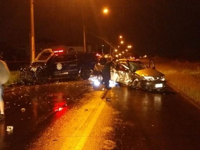 Acidente com viatura da Guarda Municipal e dois carros deixa quatro feridos em Araras