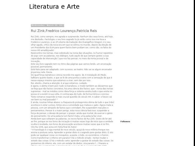 Rui Zink,Fredrico Lourenço,Patricia Reis