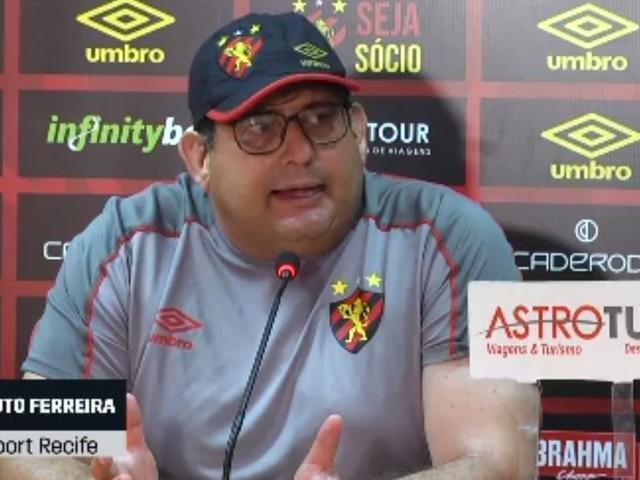 Após empate, Guto Ferreira prega que Sport-PE vai melhorar