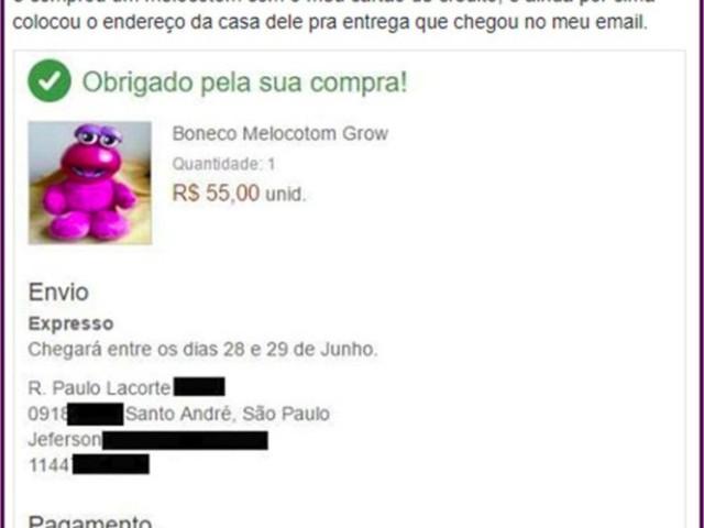 Ladrão de celular é descoberto após comprar um boneco Melocotom