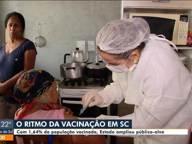 Mais doses de vacina contra Covid-19 devem chegar a SC até 23 de fevereiro, diz Ministério da Saúde