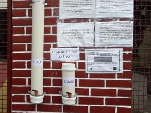 Prefeitura de Vassouras disponibiliza água e sabão para população higienizar as mãos