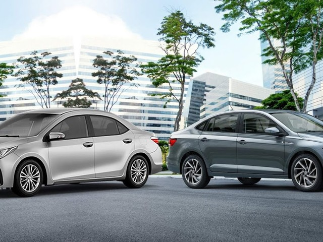 Toyota Corolla x Volkswagen Virtus - comparativo técnico