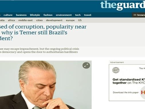 The Guardian: Por que Michel Temer ainda é o presidente do Brasil?