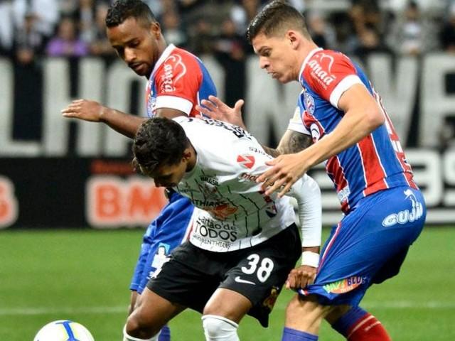 Bahia não segura empate e perde por 2 a 1 para Corinthians