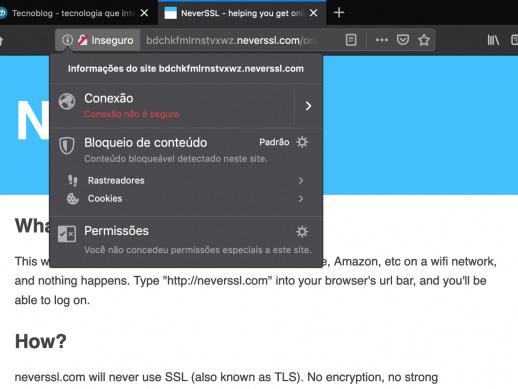 Mozilla Firefox 70 sinaliza sites HTTP como inseguros