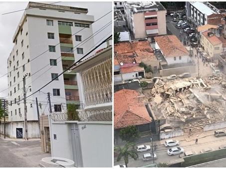 Prédio residencial desaba em área nobre de Fortaleza