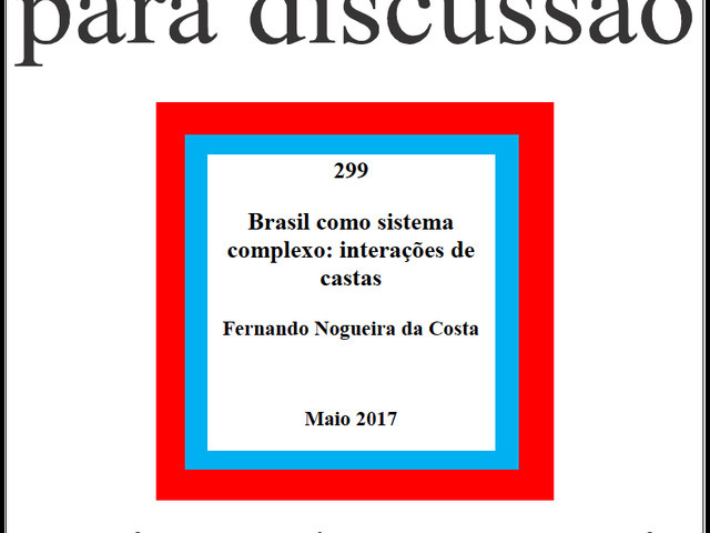 Brasil como Sistema Complexo: Interações de Castas