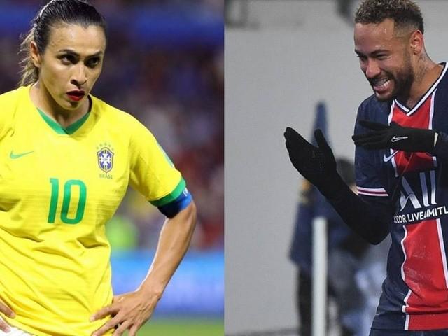 Enem 2020 usa Neymar e Marta para abordar desigualdade na remuneração de homens e mulheres no futebol