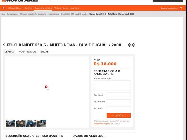 Suzuki Bandit 650 S - Muito Nova - Duvido Igual / 2008