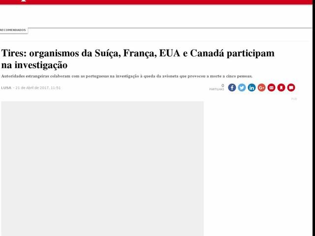 Tires: organismos da Suíça, França, EUA e Canadá participam na investigação