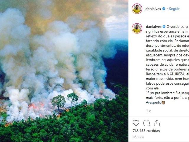 Re: Veja as manifestações de esportistas sobre as queimadas na Floresta Amazônica