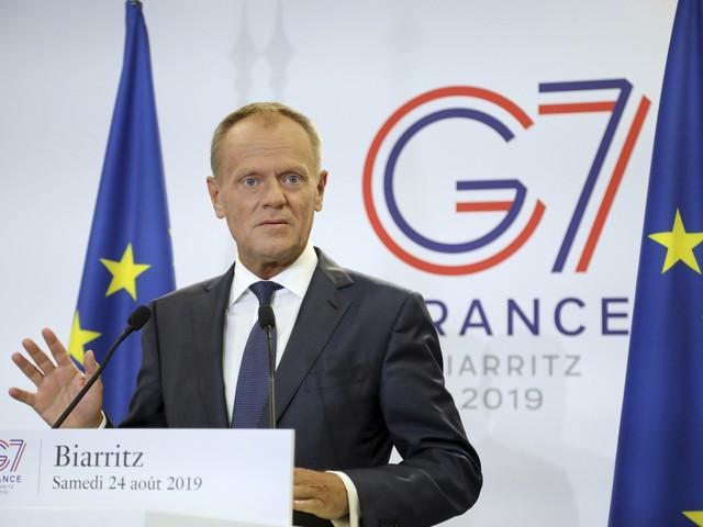 Presidente do Conselho Europeu questiona no G7 acordo com o Mercosul após incêndios na Amazônia